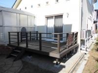 奈良県天理市 木樹脂デッキ工事