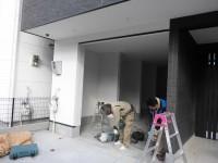 大阪市住之江区窓リフォーム フロント(店舗引戸)取り付け工事