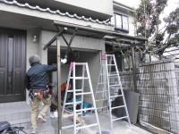 大阪府八尾市 窓リフォ テラス取り換え工事