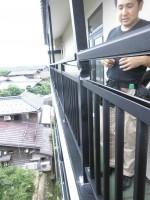 リフォのエクステリア工事 兵庫県某旅館 テラス柱取替え工事