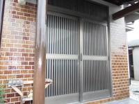 リフォの玄関引き戸リフォーム 羽曳野市 玄関引き戸(リシェント)取替え工事