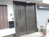 リフォの玄関リフォーム 東大阪市 玄関引き戸取替え(リシェント)工事