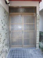 リフォの玄関ドアリフォーム 大阪府三島郡 玄関引き戸からドアへ!取替え工事