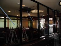 リフォの店舗リフォーム 大阪府堺市 分煙用フロント取付工事